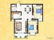 揽翠城2室2厅1卫92平方米户型图
