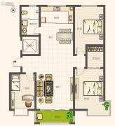 圣亚・绿溪园3室2厅1卫146平方米户型图