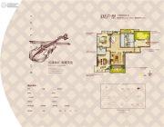中冶・一曲江山3室2厅2卫127--129平方米户型图