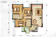 格林城3室2厅2卫93平方米户型图