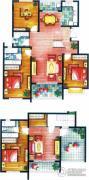 上书房4室3厅3卫202平方米户型图