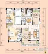 美的翰诚3室2厅3卫169平方米户型图