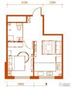 梦想公馆1室1厅1卫0平方米户型图