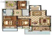 康桥香溪郡3室2厅2卫147平方米户型图