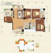 阳光新城4室2厅2卫122平方米户型图