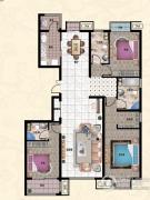 行宫・御东园3室2厅2卫178平方米户型图