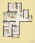 中汉财富湾2室2厅2卫125平方米户型图
