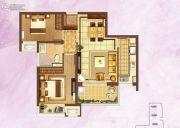 富力桃园2室2厅1卫75平方米户型图