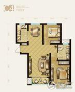 盛泽伯爵山2室2厅1卫85平方米户型图
