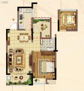 佳兆业君汇上品2室2厅1卫75平方米户型图