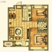 银亿格兰郡2室2厅1卫94平方米户型图