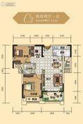 依山龙郡2室2厅1卫87平方米户型图