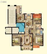 京都御府4室2厅2卫133平方米户型图