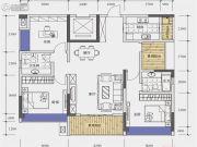 北城天街4室2厅2卫121平方米户型图