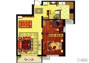 哈西万达广场2室2厅1卫89平方米户型图