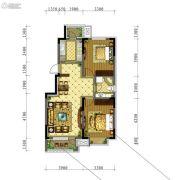 五彩阳光城2室2厅1卫87平方米户型图