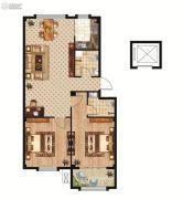 中正公馆2室2厅2卫107平方米户型图