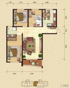 金梦海湾1号3室1厅1卫122平方米户型图