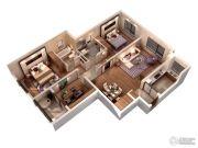 仁恒绿洲新岛3室2厅2卫125平方米户型图