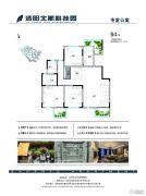 洛阳北航科技园3室2厅2卫131--134平方米户型图