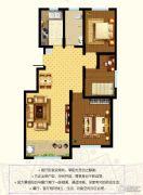 东郡3室2厅1卫110平方米户型图