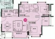 中森茗苑3室2厅1卫87平方米户型图