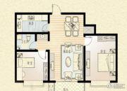乐海公馆2室2厅1卫0平方米户型图