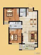 香榭丽都2室2厅1卫89平方米户型图