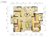长虹和悦府4室2厅2卫128平方米户型图