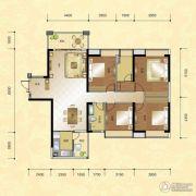 正升华府4室2厅1卫163--165平方米户型图