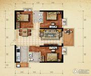 美鳌城3室2厅1卫107平方米户型图