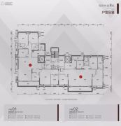 保利大都会5室2厅3卫219平方米户型图