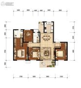 万科&新城  时代之光3室1厅2卫118平方米户型图