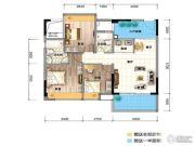 三角科尔玛城3室2厅2卫89平方米户型图