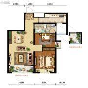 宝能水岸康城2室2厅1卫72平方米户型图