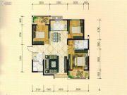 西城国际3室2厅2卫129平方米户型图