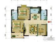 四通南城学府2室2厅2卫0平方米户型图