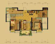 长兴利时广场3室2厅1卫89平方米户型图