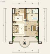 嘉和冠山海1室2厅1卫82平方米户型图