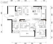 湘港3室2厅2卫119平方米户型图