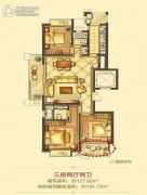 平阳万达广场3室2厅2卫127平方米户型图