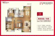 阳光城丽景湾3室2厅2卫115平方米户型图