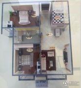 上上城青年社区二期2室2厅1卫84平方米户型图