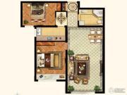 k2玉兰湾2室1厅1卫90平方米户型图