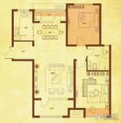 国赫红珊湾2室2厅1卫92平方米户型图