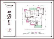 兴达・江山领秀4室2厅2卫0平方米户型图