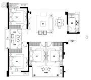 中融中央首府4室2厅2卫133平方米户型图