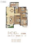 府东公馆3室2厅2卫131--137平方米户型图