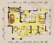 东湖天下4室2厅3卫150平方米户型图