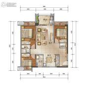 泰安江南星语3室2厅2卫92平方米户型图